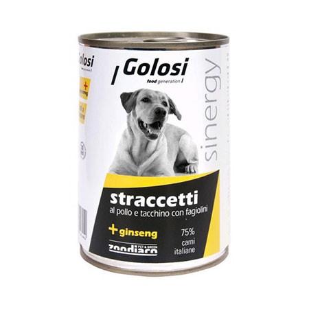 Golosi Cane Straccetti Pollo Tacchino Fagiolini Gr.400