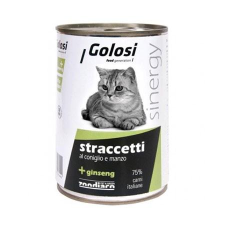 Golosi Cat straccetti Coniglio e Manzo 400 grammi