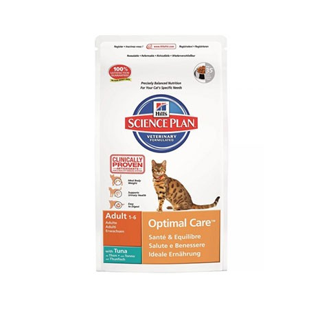 hill's science plan feline adult-optimal care tonno 400 grammi