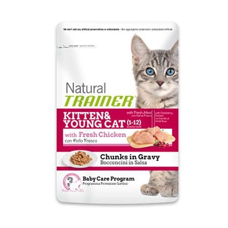 Trainer Natural Cat Kitten & Young con Pollo Fresco Busta 85 grammi