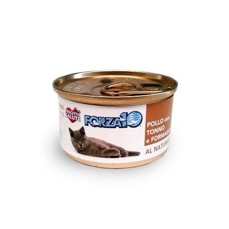 Forza10 gatto - Pollo, Tonno e Formaggio al Naturale 75 grammi