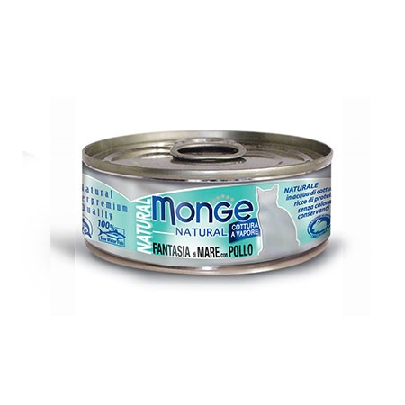 Monge Cat Natural Fantasia Di Mare pollo 80 grammi