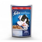 Purina Cat Felix le Ghiottonerie Manzo in gelatina busta 100 grammi