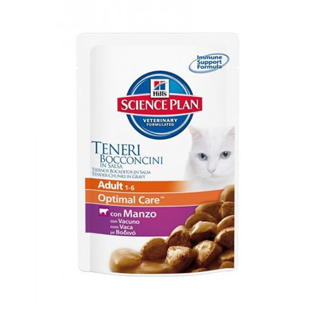 hills cat adult optimal care tacchino gr 85