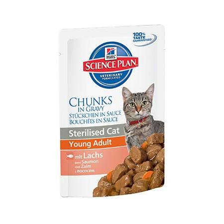 hills science plan feline young adult sterilised salmone 85 grammi