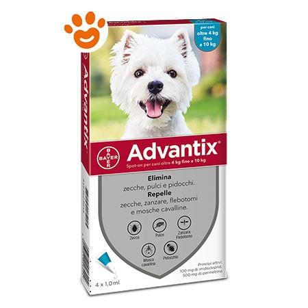 Bayer Advantix Spot-On per Cani da 4-10 kg