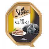Sheba Cat Paté Classic con Tacchino Vaschetta 85 grammi