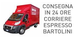 Consegna in 24 ore con corriere espresso Bartolini
