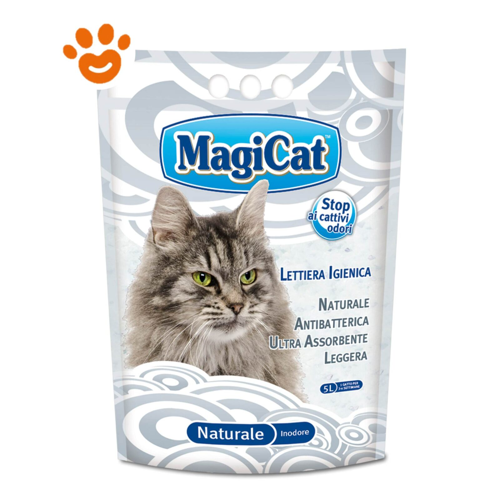 Magicat Lettiera Per Gatti Silicio Naturale Amore Animale Shop