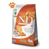Farmina N&D Grain Free Pumpkin Adult Mini Merluzzo, Zucca e Arancia