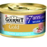 purina gourmet gold senior +7 mousse con pesce dell' oceano
