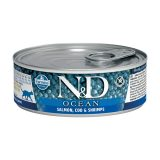 farmina natural & delicious wet cat ocean salmone e gamberetti 80 gr