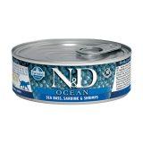 farmina natural & delicious wet cat ocean spigola sardine 80 gr