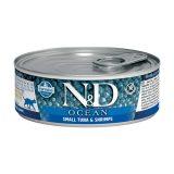 farmina natural & delicious wet cat ocean tonnetto gamberi 80 gr