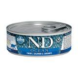 farmina natural & delicious wet cat ocean trota salmone 80 gr