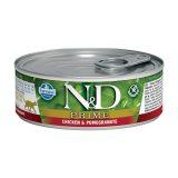 farmina natural & delicious wet cat prime pollo melograno 80 gr