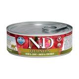 farmina natural & delicious wet cat quinoa skin & coat anatra cocco 80 gr