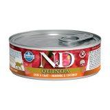 farmina natural & delicious wet cat quinoa skin & coat aringa cocco 80 gr