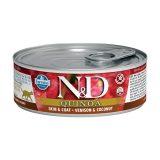 farmina natural & delicious wet cat quinoa skin & coat cervo cocco 80 gr