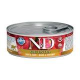 farmina natural & delicious wet cat quinoa skin & coat quaglia cocco 80 gr