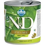 farmina natural & delicious wet dog prime mini cinghiale mela 285 gr