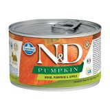 farmina natural & delicious wet dog pumpkin mini cinghiale zucca mela 140 gr