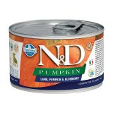 farmina natural & delicious wet dog pumpkin mini puppy agnello zucca mirtillo 140 gr