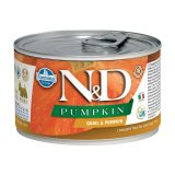 farmina natural & delicious wet dog pumpkin mini quaglia zucca 140 gr