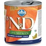 farmina natural & delicious wet dog pumpkin starter agnello zucca mirtillo 285 gr