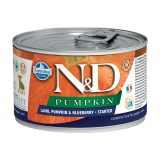 farmina natural & delicious wet dog pumpkin starter mini agnello zucca mirtillo 140 gr