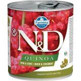 farmina natural & delicious wet dog quinoa skin & coat anatra cocco 285 gr