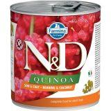 farmina natural & delicious wet dog quinoa skin & coat aringa cocco 285 gr