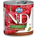 farmina natural & delicious wet dog quinoa skin & coat cervo cocco 285 gr