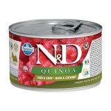 farmina natural & delicious wet dog quinoa skin & coat mini anatra cocco 140 gr