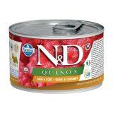 farmina natural & delicious wet dog quinoa skin & coat mini quaglia cocco 140 gr