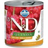 farmina natural & delicious wet dog quinoa skin & coat quaglia cocco 285 gr