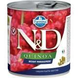 farmina natural & delicious wet dog quinoa weight management 285 gr