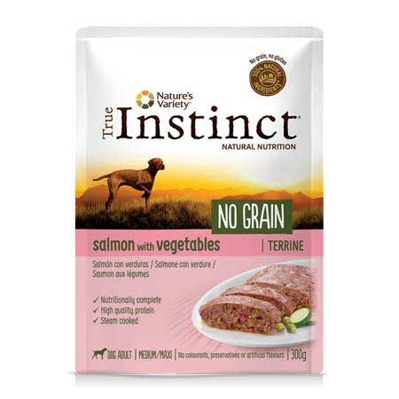 True Instinct Dog No Grain Adult Medium Maxi Salmone con Verdure