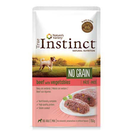 True Instinct Dog No Grain Adult Mini Manzo con Verdure