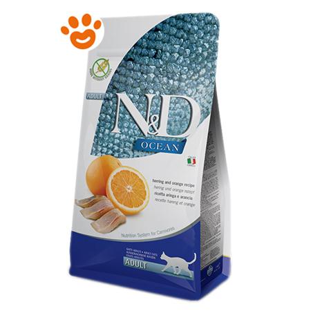 Farmina Cat N&D Ocean Prime Grain Free Adult Aringa e Arancia