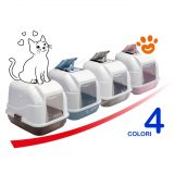 Imac-EASY-CAT-LETTIERA-chiusa-per-Gatto-50-x-40-x-40-cm-Marrone-Tortora-Azzurro-Rosa